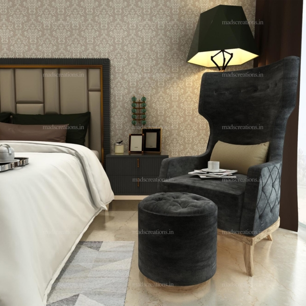 Interior design of DLF Kings bedroom sofa