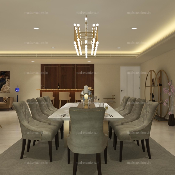 Interior design of DLF Kings Dining room