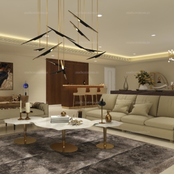 Interior design of DLF Kings Living Room