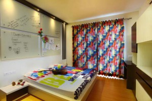 The interior design of Park View Spa Apartment children