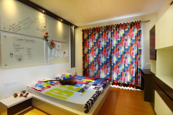 The interior design of Park View Spa Apartment children