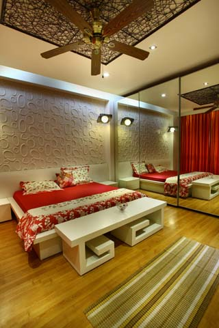 bedroom Interior design of Vatika City apartment