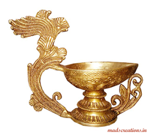 Antique Metal Diyas