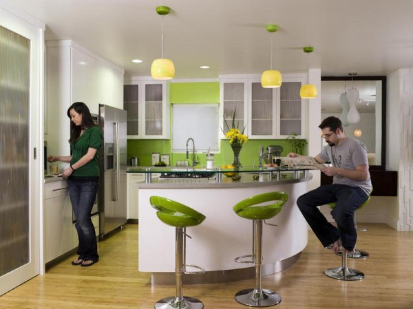 Green-Kitchen-and-kitchen-design-color-ideas