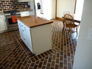 Textured Brick Flooring