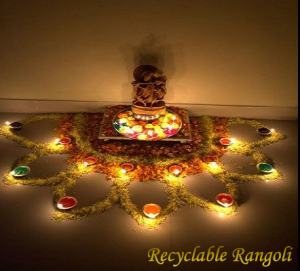 Recyclable Rangoli