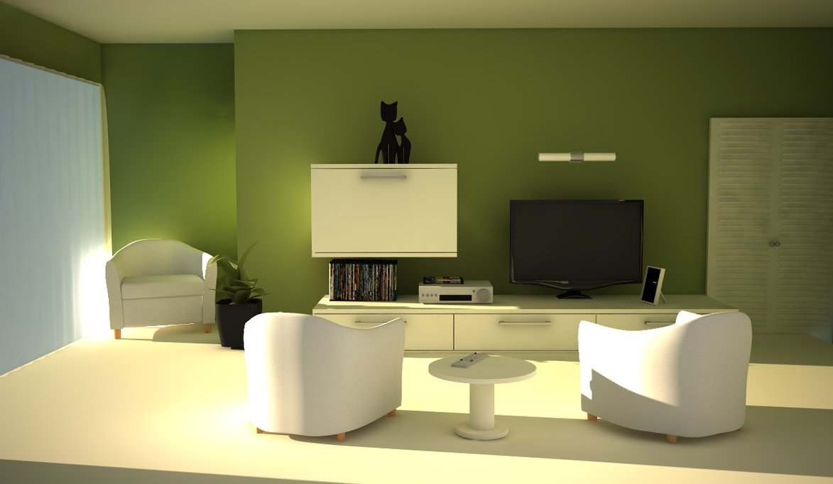 Perfect Decorating With Olive Green Walls Vignette - Wall Art ...