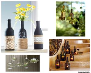 empty bottle decoration ideas