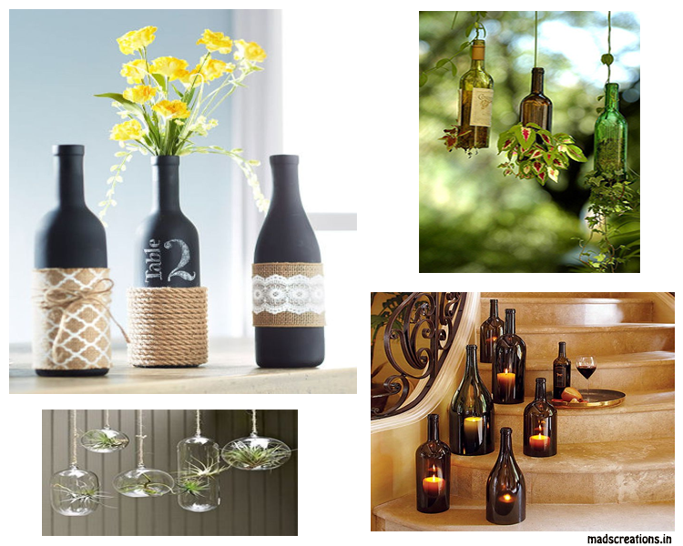empty bottle decoration ideas