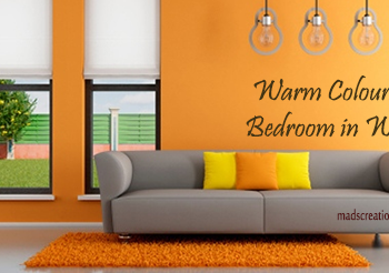 warm colours for the bedroom