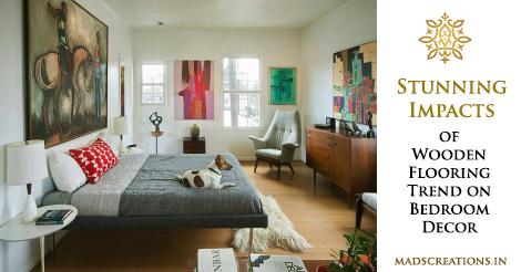 Stunning impact of wooden flooring in bedroom