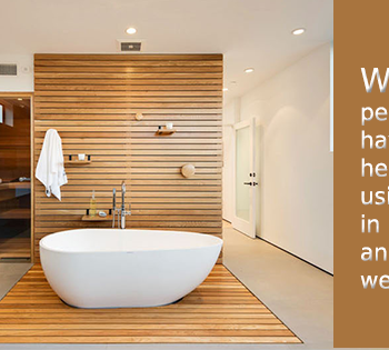 uses of wood in the bathroom