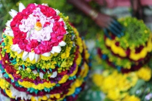 Bathukamma flower for Navratri home decoration