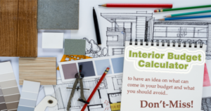 budget calculator for an interior