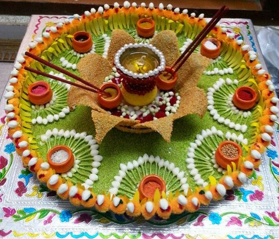 Decorate the Aarti thaali with Style by madscreations