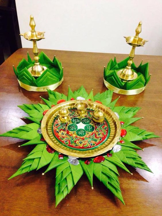 Decorate the Aarti thaali with Style