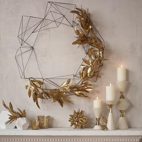 Christmas metallic decor piece for home interior
