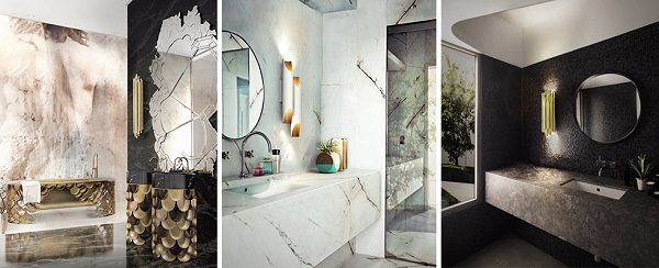 Luxury bathrooms interiors