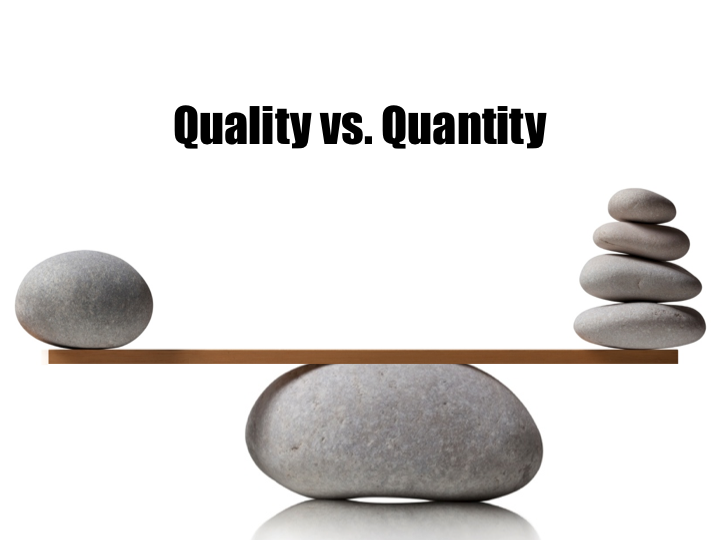 Interior design quality vs quantity