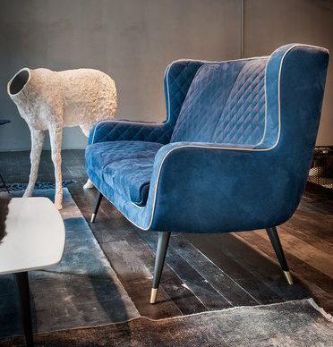 bluish sofa