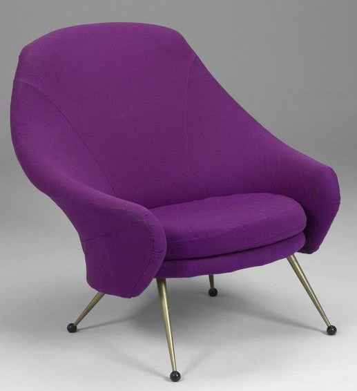 sofa set with a velvet fabric in deep violet colour by mads creations