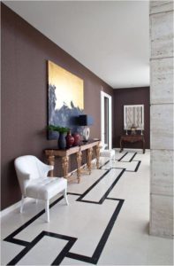 Italian marble flooring inlays details