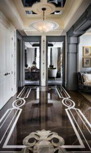 Italian marble flooring inlays