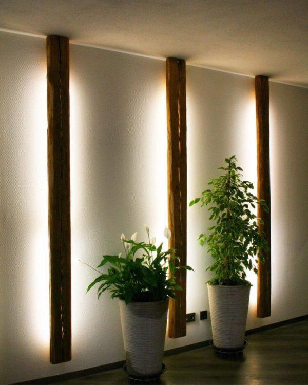 floor lights with planters decor ideas