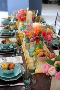 beautiful tablescape creates ambience and inspires in Diwali Decor