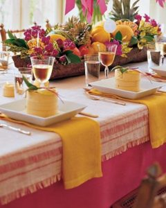 Make sure that your tablescape does not jar with colours and decorations in the rest of the house