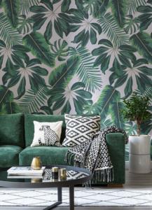Green themed interior