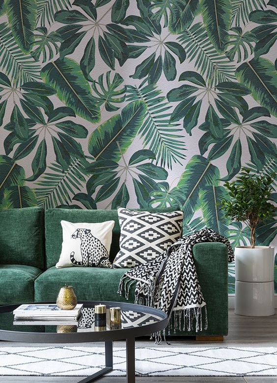 Green themed interior