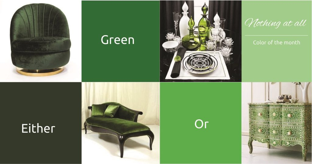 combination of the green color