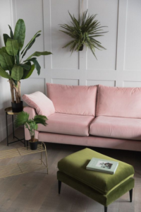 pink and green color design options for interior design
