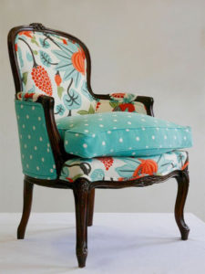 classic printed chair