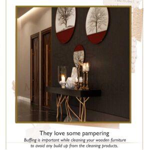 Luxury wooden furniture needs polishing