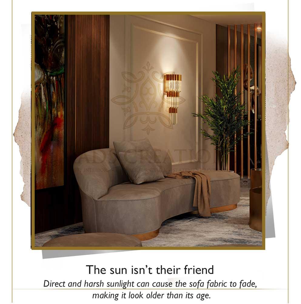 Sun isn't good for luxury wooden furniture