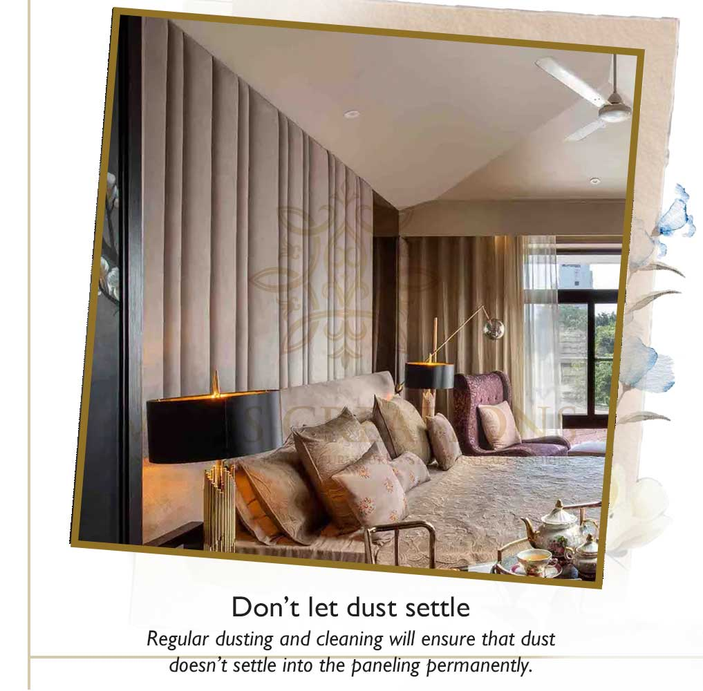 Blot out spills | luxury upholstered furniture