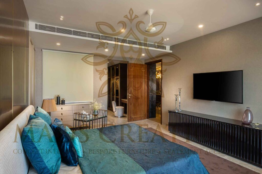 Luxurious washrooms and wardrobes
